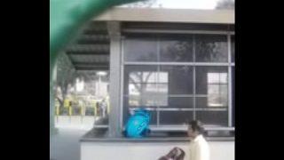 Delhi Students caught outside in delhi metro station