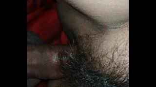 Fucking hairy pussy after a nice sex  game