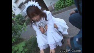 Innocent hot teen maid having hardcore fuck with older man