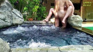 She swallowed my cum after great fuck in jacuzzi – Amateur Russian couple